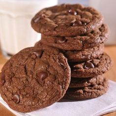 Ultimate Chocolate Chocolate Chip Cookies are an amazing and chocolatey treat. Easy to make and so very delicious.