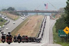 Twitter pic of 9-11 bikers on the way to DC. God bless you!