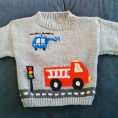 Boys Knitting Patterns Free, Love Knitting, Baby Sweater Patterns, Knit Baby Sweaters, Knitting For Kids, Baby Patterns, Crochet Patterns, Knitting Tutorials, Easy Knitting