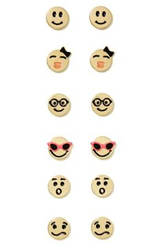 Emoji Stud Earring Pack - How fun are these?!