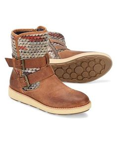 This Almond Tan Nordic Leather Boot is perfect! #zulilyfinds