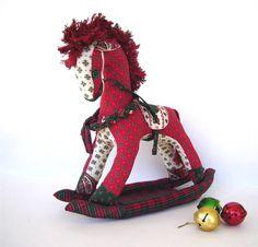 Diy Vintage Christmas Rocking Horse Pattern PDF Format