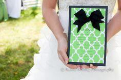 MIDORI Gift Wrap and Ribbon Wedding Dinner Menu