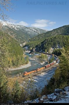 RailPictures.Net Photo: BNSF 7552 BNSF Railway GE ES44DC at Belton, Montana by Dan Mackey