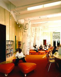 Students at a school in New York love reading in the Robin Hood Foundation Library.