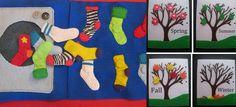 DIY Quiet Books match the socks...neat idea