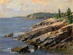 John Stobart - Bar Harbor: At the Edge of Acadia National Park.