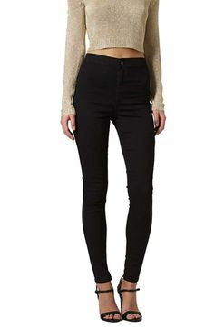 Free shipping and returns on Topshop 'Joni' High Rise Skinny Jeans at Nordstrom.com. A pocketless front and cropped length elevate the retro flair of high-waisted skinny jeans in an inky black wash.