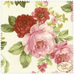 Sarah's Collection 24423 by Red Rooster Fabrics Wallpaper 2016, Chintz Fabric, Decopage, Red Rooster, Art Drawings, Drawing Art, French Country Decorating, Texture Design, Vintage Roses
