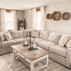 Ahhhhh, a nice clean living room! How is this possible during summer vacation? (Don't worry, we've got housesitters) Farmhouse Laundry Room, Farmhouse Style Kitchen, Farmhouse Homes, Farmhouse Decor, Farmhouse Bathrooms, Clean Living Rooms, Living Room Sets, American Farmhouse, Cozy Place