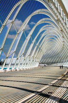 At the Olympic Stadium complex (by Spanish architect Santiago Calatrava)