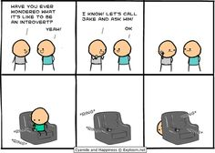 Lol! xD but if you texted or otherwise asked in writing, he'd probably answer. ;) #introverts