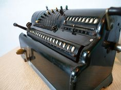 100 YEAR OLD ANTIQUE Industrial Machine Early 1900s Vintage Mechanical Calculator made by Marchant in California Pinwheel Style by Aces Finds Vintage, via Flickr