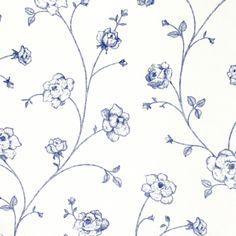 Esta Home Tapete Blumenranke blau
