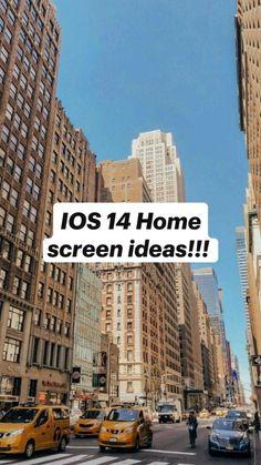 IOS 14 Home screen ideas!!!
