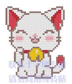 Schema punto croce Gattino Miao