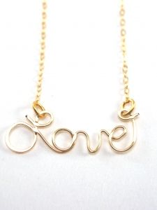 Custom Love necklace in gold filled or sterling silver