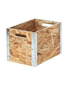 Boîte OSB avec coin en métal: