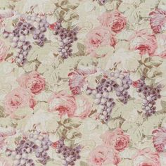 Rosevine, faded purple pink on oyster, one of my favorite fabrics