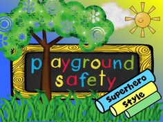 Playground Safety PowerPoint uses superheros to give safety tips for a school playground. PowerPoint has realistic backgrounds with graphics of cute kids and some playground equipment. Playground Safety, Community Nursing, Beginning Of School, Help Teaching, Safety Tips, Cute Kids, Prompt, Editor, Projects