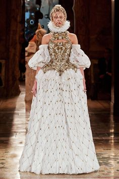 Bustier and skirt: Her Majesty: Inspirations From Alexander McQueen's Runway Collection - The Cut
