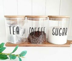 Dry Food Storage, Glass Storage Jars, Jar Storage, Glass Jars, Storage Ideas, Kitchen Jars, Glass Kitchen, Diy Kitchen, Kitchen Storage