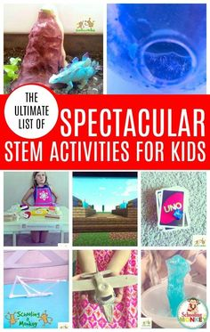 Need more science, technology, engineering, or math in your classroom? These STEM activities are the perfect STEM enrichment activities for kids and include hundreds of STEM ideas as a list of STEM activities. It's the ultimate STEM challenge list of STEM activities! Science Experiments For Preschoolers, Enrichment Activities, Science Activities For Kids, Stem Science, Learning Activities, Preschool Science, Baby Activites, Teaching Ideas, Easy Science