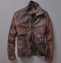 7d85f1f835f18 Distressed Leather Jacket Distressed Leather Jacket