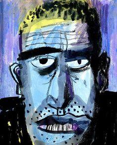 Day 27: Sad stranger in a bus  День 27: Незнакомец напротив  #365sketchchallenge #365vikasemykina #drawingeveryday365 #everydayidraw #coloredpencils #drawingpeople #365sketch2017