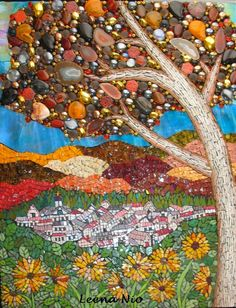 Mosaic Wonderland by Leena Nio Mosaic Crafts, Mosaic Projects, Mosaic Wall Art, Mosaic Tiles, Stained Glass Art, Mosaic Glass, Mosaic Madness, Mosaic Designs, Artsy