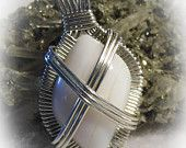 On Sale White Spencer Opal Wire Wrapped Pendant