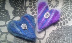 Deer horn buttons and double layer of needle felted felt.