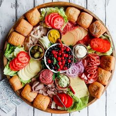 An Epic Sandwich Charcuterie Board for easy hosting and holiday parties. Add your favorite sandwich ingredients; guests make their own (warm) sandwich! Sandwich Bar, Sandwich Platter, Sandwiches, Snack Platter, Platter Ideas, Charcuterie Recipes, Charcuterie Platter, Charcuterie And Cheese Board, Cheese Boards