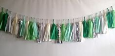 Double the Mint 27 Sparkle & Shine Tissue Tassel Garland. $45.00, via Etsy.