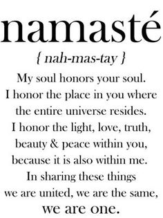 Namaste Definition Quote Vinyl Decal by elma