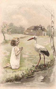 child + stork
