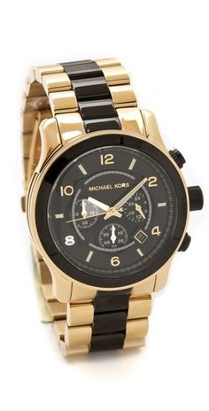 Click Image Above To Purchase: Michael Kors Two Tone Runway Watch
