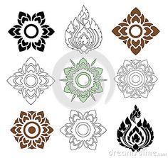 Floral and leaves of Thai pattern. Beautiful floral and leaves of Thai pattern o , Thai Pattern, Pattern Art, Pattern Design, Doodles Zentangles, Motif Oriental, Thai Design, Geniale Tattoos, Thai Art, Elements Of Art