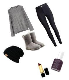 """""""Fall"""" by dorksalot ❤ liked on Polyvore featuring ONLY, H&M, UGG Australia, Essie and Revlon"""