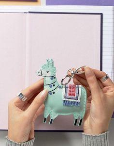 Paperchase Llama Shaped Keychain