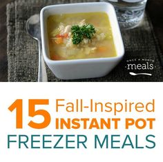 Fill your freezer with Instant Pot freezer meals your family will enjoy this Fall.