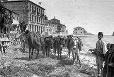 Πάργα,τα μεταφορικά μέσα της εποχής,στη παραλία. Abandoned Houses, Vintage Photos, Greece, Memories, History, Painting, Image, Art, Beautiful Landscapes