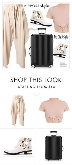 """Airport Style"" by stranjakivana ❤ liked on Polyvore featuring STELLA McCARTNEY, Rimowa and airportstyle"