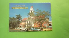 OLD 1970s AUSTRALIAN POSTCARD, MARYBOROUGH QLD, VIEW OF THE TOWN HALL | eBay