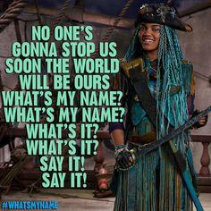 """Get ready Auradon.. What's My Name? #Uma #WhatsMyName #Descendants2"" - China mcClain   IG chinamcclain"
