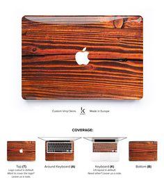 Redwood Macbook Decal Macbook Cover Macbook Skin Macbook Pro Skin Macbook Air Skin Macbook Cover Woody Red Wood Wooden Macbook # Redwood