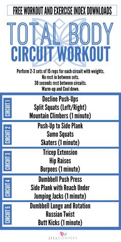 Calorie Burning Muscle Toning Total Body Circuit Workout Jill Conyers - Real Time - Diet, Exercise, Fitness, Finance You for Healthy articles ideas Cardio Training, Strength Training, Full Body Strength Workout, Weight Training, Fitness Models, Fitness Tips, Fitness Motivation, Health Fitness, Healthy Smoothie