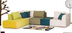 Πολύχρωμος καναπές retro sofa