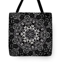 Image 2024 Tote Bag featuring the digital art Kaleidoscope Flower 2024 by Aileen Griffin