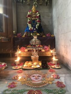 Varalakshmi Vratham 2019 honours the most popular Goddess Maha Lakshmi. Varalakshmi Puja or homam on this day means abundant wealth is sure to come your way. Diwali Decorations At Home, Festival Decorations, Diy Party Decorations, Floral Decorations, Diy Flowers, Wedding Flowers, Silver Pooja Items, Pooja Room Door Design, Puja Room